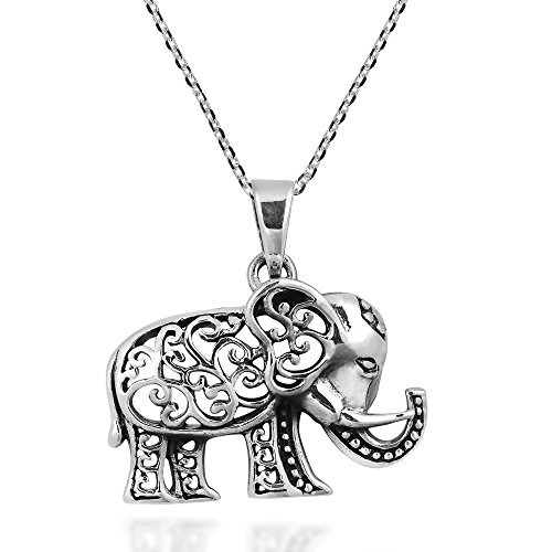 Royal Thai Swirl Elefant 925 Sterling Silber -