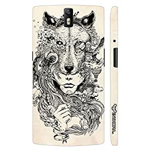 Oppo Find 7 Exotic Wolf Head designer mobile hard shell case by Enthopia