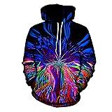 Madela Lässige Pullover psychedelischen Hoodie Musik Festival Licht Show Trippy Kleidung Kunstdruck Sublimation Hoodies Psychedelic Hoodie L
