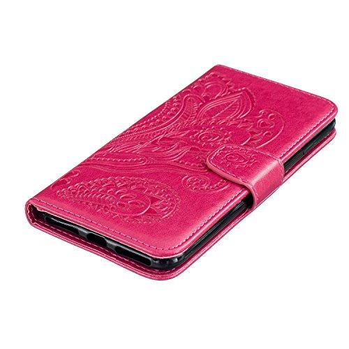 Vandot Case Per iPhone 7 Plus / 8 Plus Custodia in PU Copertura di Ccuoio Cover, Sintetica Ecopelle Pelle Guscio Per iPhone 7 Plus / 8 Plus Disegno Gatti e Albero Protezione Caso Ultra Sottile shell p pavone 4