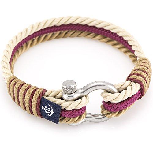 Imagen de constantin nautics pulseras náuticas pulseras hechas a mano de cuerda de navegación náutica. gran variedad de tamaños y colores. pulseras de hilo para hombres y mujeres