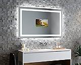 Serella V40 - TV Spiegel mit LED Beleuchtung KONFIGURIEREN - Verschiedene Zusatzoptionen auswählbar - Made in Germany - (Breite) 170 cm x (Höhe) 70 cm