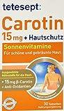 tetesept Carotin 15 mg + Hautschutz - Beta-Carotin & Antioxidantien - 5er Pack à 30 Tabletten [Nahrungsergänzungsmittel]