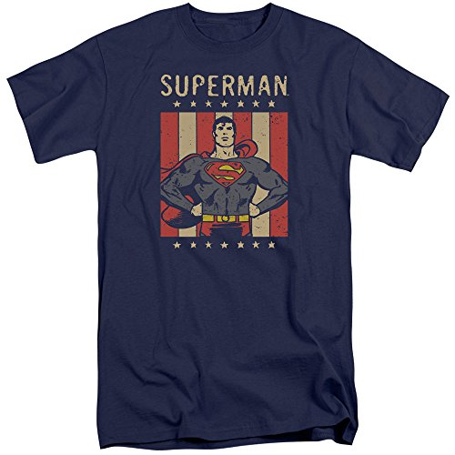 DC Comics Herren T-Shirt Navy