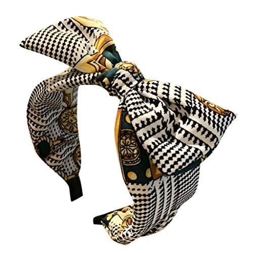 kolila Billig Stirnband Haarspange Ausverkauf Damen Cute Bow Knot Stirnbänder Zubehör Breite Seite Haarband Damen Mädchen(Grün)