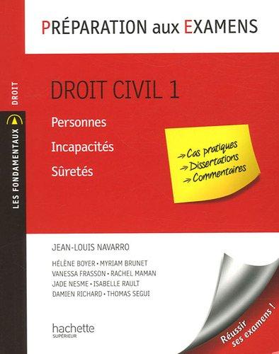 Droit civil 1 : Personnes, incapacités, sûretés