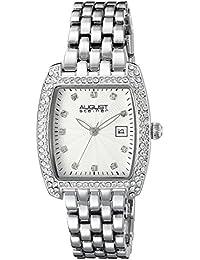 August Steiner Reloj de cuarzo para mujer con plata esfera analógica pantalla y pulsera de aleación de plata as8180ss