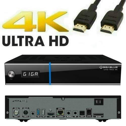 GigaBlue UHD Trio 4K 1x DVB-S2X 1XxDVB-T2/C Linux SAT IP Multiroom Hybrid Receiver