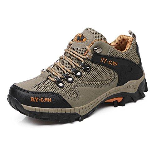 Ar Únicos Ao Modernas Perfil Laços De Marrom Malha Livre Sapatos Anti Botas Transmitida slide Homens Caminhada Respirável 6zwOzqd