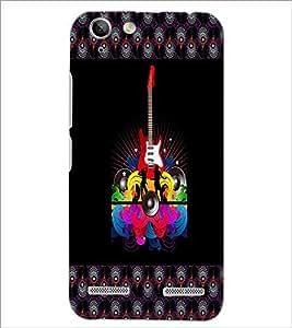 PrintDhaba Guitar D-3184 Back Case Cover for LENOVO LEMON 3 (Multi-Coloured)
