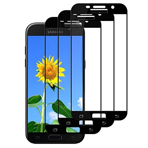 [3 Stück]Panzerglas Schutzfolie für Samsung Galaxy A5 2017,DEALUY Displayschutzfolie für Samsung A5 2017,9H Härte-Anti Kratzen,Öl,Bläschen,Fingerabdruck,Hohe Transparenz,Schutzfolie für Galaxy A5 2017