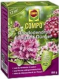 COMPO Rhododendron Langzeit-Dünger, hochwertiger Spezial-Langzeitdünger, für Rhododendren und andere Moorbeetpflanzen wie Hortensien, Azaleen und Heidepflanzen, 850 g
