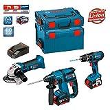 Bosch Kit PSL3M3 Professional (GBH 18 V-EC + GSB 18-2-LI + GWS 18 V-LI + 2 x 4,0Ah + L-Boxx 238 + 136)