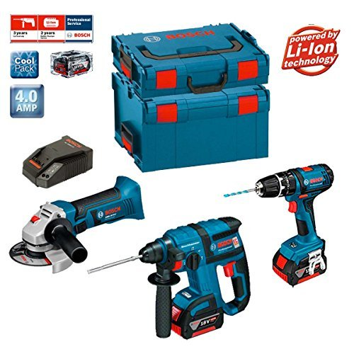 Preisvergleich Produktbild Bosch Kit PSL3M3 Professional (GBH 18 V-EC + GSB 18-2-LI + GWS 18 V-LI + 2 x 4,0Ah + L-Boxx 238 + 136)