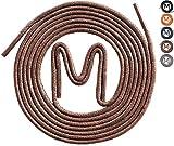 | 3 PAAR | gewachste Business Schnürsenkel für Anzugschuhe, Rundsenkel in hoher Qualität aus 100% Baumwolle – Ø 2,5mm, dünn, rund und reißfest, Farben: Schwarz, Blau, Dunkelbraun, Braun und Grau