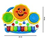 V2 Collection's Drum Keyboard Musical Toys with Flashing Lights - Animal Sounds and Songs, Multi Colour