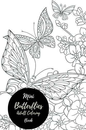 Mini Butterflies Adult Colouring Book