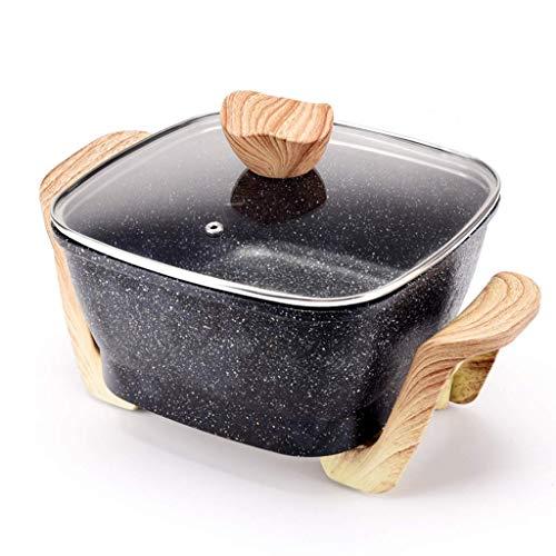 Pentola per friggere elettrica Pentola elettrica multifunzionale Bistecca alla griglia Pentola calda Piccola famiglia Mini padella plug-in per cottura (con piano cottura a vapore) (colore: beige)