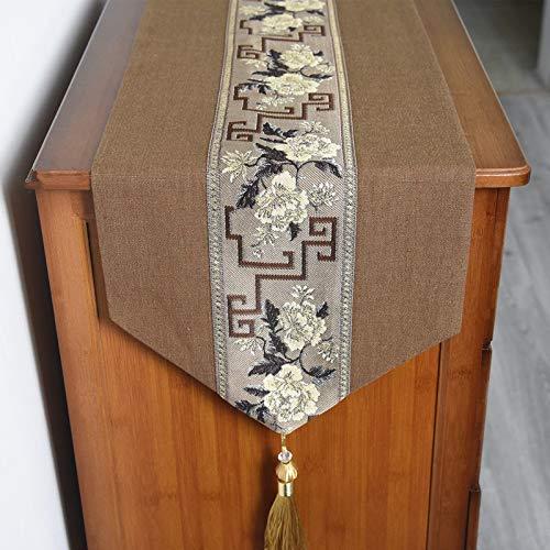 esa moderno Simple lino de algodón arte Chino mesa de café paño Zen mesa de té TV gabinete Mantel ()