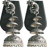 #8: Buy Silver Color Designed Jumka Earring Online (German Silver)