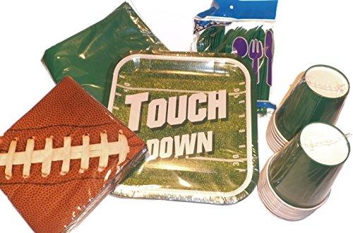 Partyzubehör zum Ausbessern, Fußballservietten, Kunststoff, Becher, Kunststoff, Grün (Nfl Party Supplies)