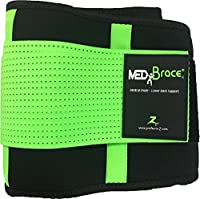 Back Support Brace, Lower Lumbar Belt MEDiBrace II (Medical Grade) Pain & Discomfort Relief from Sciatica, Backache, Slipped Disc, Hernia, Spinal Stenosis, Spine Injury Prevention | Posture Corset