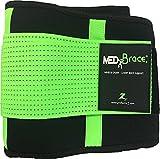 Orthopädischer Rücken- und Bauchgürtel MEDiBrace von ProfessorZ | Rückenbandage stützt und schützt vor Verletzungen und Schmerzen bei Sport, Arbeit und Freizeit (112-140cm 3X-LARGE, Limettengrün)