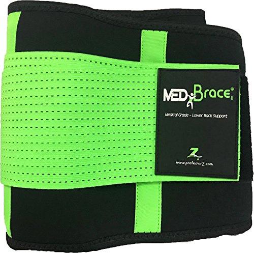 Foto de Cinturón Lumbar Médico Ortopédico MEDiBrace para Prevenir Lesiones al hacer Deporte o Aliviar el Dolor y la Molestia de la Ciática, la Hernia de Disco, Estenosis Espinal | Soporte con Tiras Dobles Ajustables | Mejora la Postura de la Espalda en Hombres y