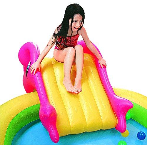 Jilong Sea Animal Play Pool - Kinder Planschbecken mit Wassersprüher, für Kinder von 2 - 6 Jahren, 298x165x55cm