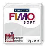 FIMO Lot de 12 Pâtes à modeler SOFT, à cuire, gris dauphin, 56 g