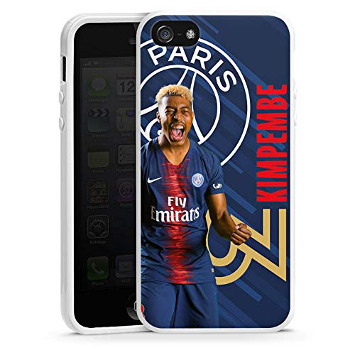 DeinDesign Apple iPhone 5s Coque en Silicone Étui Silicone Coque Souple Paris Saint-Germain Produit sous Licence Officielle Kimpembe