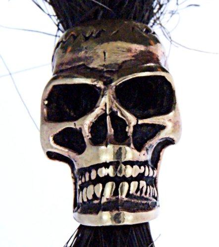 Bartperle Haarperle Bronze Totenkopf