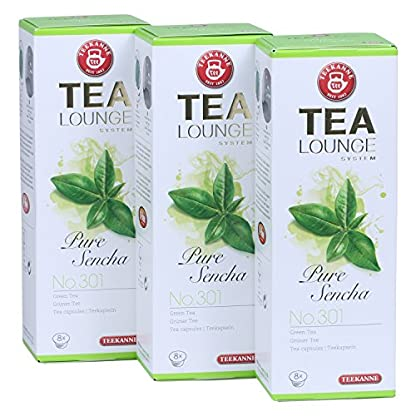 Teekanne-Tealounge-Kapseln-Pure-Sencha-No-301-Grner-Tee-3×8-Kapseln