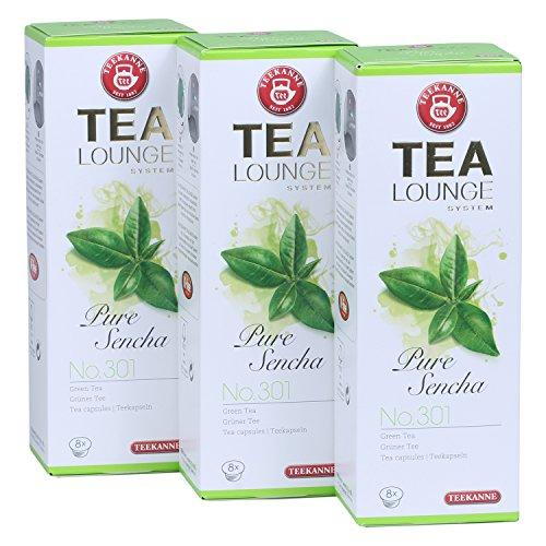 Teekanne Tealounge Kapseln – Pure Sencha No. 301 Grüner Tee (3×8 Kapseln)