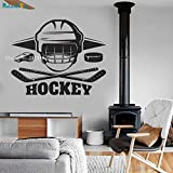 Ice Hockey Sticker Custom Color Wall Decals Sticker Home Decor Living Bedroom Vinyl Sport Removable New Art Murals Y 106x84cm