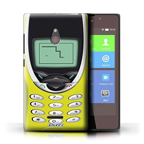 Kobalt® Imprimé Etui / Coque pour Nokia XL / Nokia 8210 vert conception / Série Portables rétro Nokia 8210 jaune