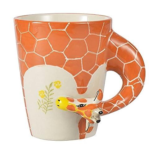 Homee Handmade Creative Art Mug Hand-painted Ceramic Cups Africa Style (Giraffe) by HOMEE