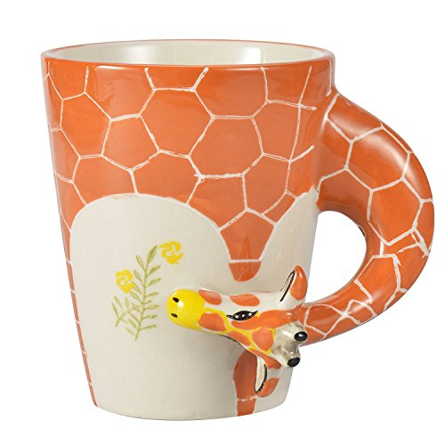 Hand Painted Dessert (Homee Handmade Creative Art Mug Hand-painted Ceramic Cups Africa Style (Giraffe) by HOMEE)