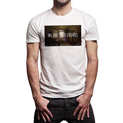 We Are Your Friends Movie Summer WAYF Movie Scene Jumping Bed Background Herren T-Shirt Weiß