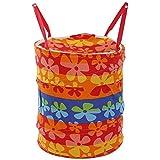 Kuber Industries Round Foldable Cotton Laundary Basket, 30 litres (KI4984)