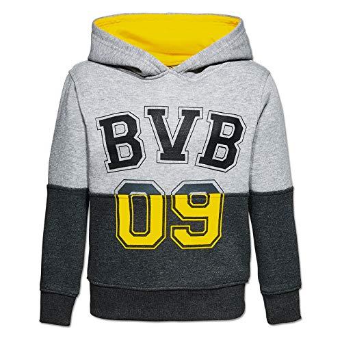 BV Borussia Dortmund 09 BVB 09 Kids Hoody (122/128, grau/schwarz) - 09 Hoody