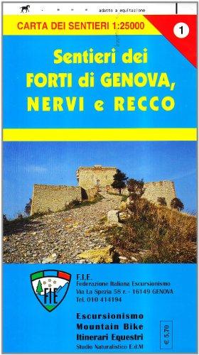 GE 1 Forti di Genova e sentieri tra Nervi e Recco alta via dei monti liguri (Carta dei sentieri) por Stefano Tarantino