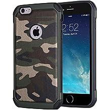 Funda de protección Armor Carcasa robusta y rígida Protector & Aelgada Antichoque Shockproof Iphone 5/5S/SE [Verde Militar] Facil&co®