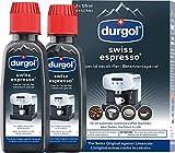 durgol swiss espresso Spezial-Entkalker - Kalkentferner für Kaffeemaschinen aller Typen und Arten - Einfache Reinigung ohne Einwirkzeit & Rückstände  - 2x125ml -