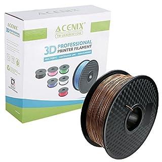 ACENIX® Holz PLA 3D Drucker Filament 1.75mm 1KG Spule Filament 1KG [2.2 LBS] Spule 3D Filament für 3D Drucker & 3D Stifte