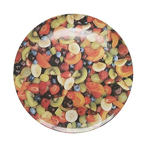 Splash 20.5 cm Diameter Plate in Fruit Salad Design,