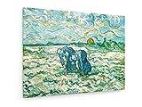 Vincent van Gogh - Las mujeres campesinas que cavan - 40x30 cm - Impresión en lienzo textil - Muro de arte - Old Masters / Museum
