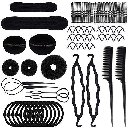 Juego de 70 accesorios para peinar el cabello