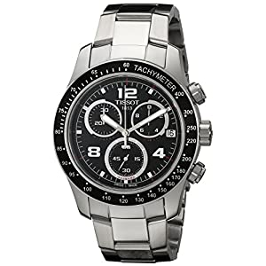 Tissot Men's T0394171105702 V 8 Stainless Steel Watch with Black Dial