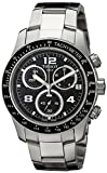 Tissot Men's Quartz Watch with Black Dial Chronograph Display - T039.417.11.057.02